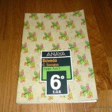 Libros de segunda mano: LIBRO DE TEXTO ANTOS 6 ANAYA LENGUA C. 1984 RAROS PERFECTOS !!!. Lote 39846362