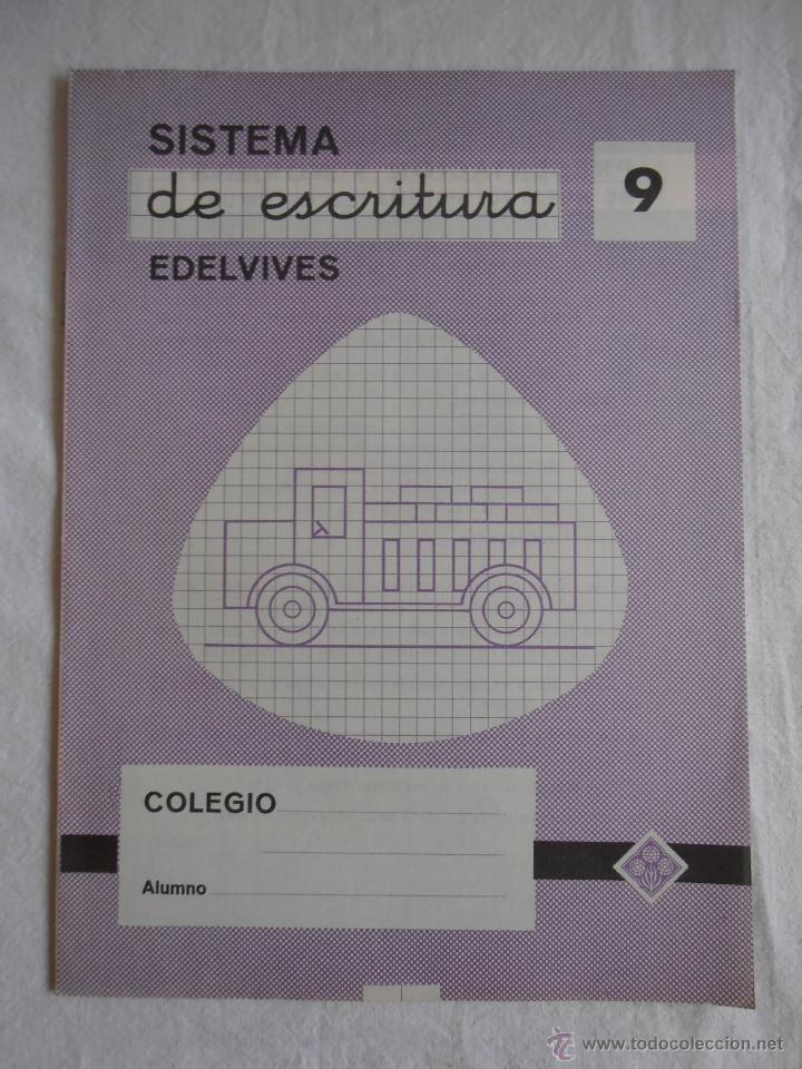 CUADERNILLO SISTEMA DE ESCRITURA EDELVIVES Nº 9 (Libros de Segunda Mano - Libros de Texto )