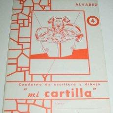 Libros de segunda mano: ANTIGUA CARTILLA INFANTIL, MI CARTILLA DE ALVAREZ Nº 4 - 1965 CUADERNO DE ESCRITURA DIBUJO - 16 PAG. Lote 38255321