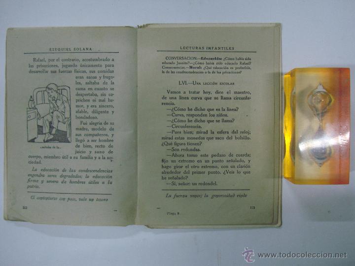 Libros de segunda mano: EZEQUIEL SOLANA. LECTURAS INFANTILES. EDITORIAL ESCUELA ESPAÑOLA 1942 - Foto 3 - 40412380