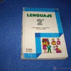 Libros de segunda mano: LENGUAJE 2º DE E.G.B ANAYA 1981 -. Lote 40699408