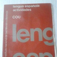 Libros de segunda mano: LIBRO LENGUA ESPAÑOLA COU UNED AÑO 1991. Lote 40937199
