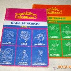 Libros de segunda mano: DOS LIBROS DE HOJAS DE TRABAJO ( SERIE A Y SERIE B ) - SANTILLANA 1989 - ¡SIN USAR!. Lote 41220880