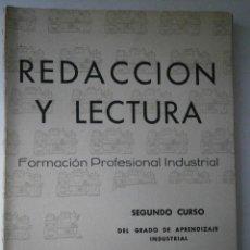 Libros de segunda mano: REDACCION Y LECTURA 2 CURSO FP 1960 ELENA VILLAMANA PECO. Lote 41362507