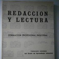 Libros de segunda mano: REDACCION Y LECTURA 3 CURSO FP 1962 ELENA VILLAMANA PECO. Lote 41362880