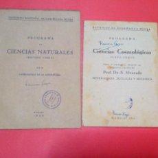 Libros de segunda mano: ESTUDIO DE ENSEÑANZA MEDIA CIENCIAS COSMOLÓGICAS 6º Y PROGRAMA DE CIENCIAS NATURALES 7º. Lote 41419128