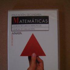 Libros de segunda mano: MATEMÁTICAS (EN TUS MANOS , EDUCACION SEC.)- CD-ROM RECURSOS DIDÁCTICOS - EVALUACIÓN. Lote 41502376