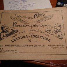 Libros de segunda mano: CUADERNOS ALAS, LECTURA Y ESCRITURA POR GREGORIO ARAGON BLANCO, 1942, Nº 2. Lote 41556969