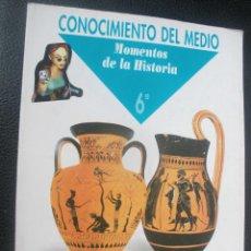 Libros de segunda mano: 1 LIBRO DE TEXTO - AÑO 1995 - ED. SANTILLANA - 6º CONOCIMIENTO DEL MEDIO - MOMENTOS DE LA HISTORIA. Lote 180510293