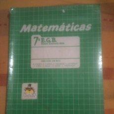 Libros de segunda mano: LIBRO DE TEXTO MATEMATICAS 7º EGB ALGAIDA. Lote 42093851