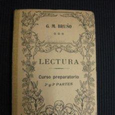 Libros de segunda mano: LECTURA. CURSO PREPARATORIO 2ª Y 3ª PARTES. G.M. BRUÑO.. Lote 42710544