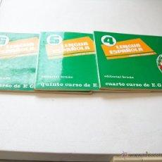 Libros de segunda mano: LENGUA ESPAÑOLA, 4,5,6 DE EGB-LIBROS DE CONSULTA-EDT: BRUÑO-AURELIO LABAJO 1972,ANGEL BUSTILLO, 1973. Lote 43108285