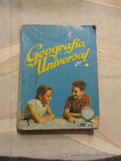 M69 LIBRO DE TEXTO SM S.M. GEOGRAFIA UNIVERSAL SEGUNDO CURSO 1964 (Libros de Segunda Mano - Libros de Texto )
