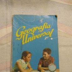 Libros de segunda mano: M69 LIBRO DE TEXTO SM S.M. GEOGRAFIA UNIVERSAL SEGUNDO CURSO 1964. Lote 43214547