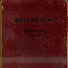 Libros de segunda mano: MATEMÁTICAS QUINTO CURSO BRUÑO (1953) ANÁLISIS GEOMETRÍA Y TRIGONOMETRÍA. Lote 43769265