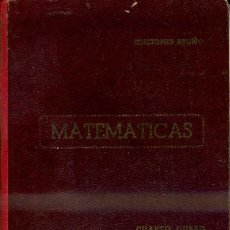 Libros de segunda mano: MATEMÁTICAS CUARTO CURSO BRUÑO (1953) . Lote 43769326