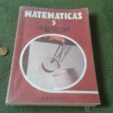 Libros de segunda mano: LIBRO TEXTO MATEMATICAS 5 EGB ANAYA PROYECTO GRANADA MATS 1977 LUIS RICO ANTONIO CORPAS. Lote 43781995