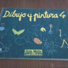 Libros de segunda mano: DIBUJO Y PINTURA 4, EGB, SANTILLANA, 1989. Lote 43855830