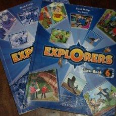Libros de segunda mano: LIBROS DE INGLES. OXFORD. EXPLORERS 6. CLASS BOOK, ACTIVITY BOOK. USADOS Y COMPLETADOS.. Lote 44190893