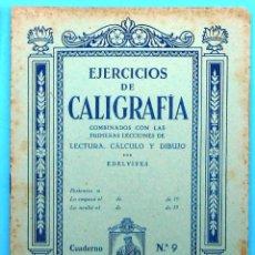 Livros em segunda mão: CUADERNO DE EJERCICIOS DE CALIGRAFÍA. Nº 9. EDITORIAL LUIS VIVES, SIN FECHA.. Lote 193822142