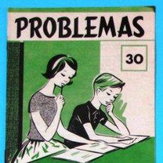 Libros de segunda mano: PROBLEMAS. EDELVIVES. CUADERNO DE PROBLEMAS Nº 30.. Lote 156796652