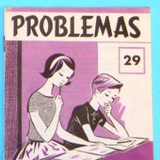 Libros de segunda mano: PROBLEMAS. EDELVIVES. CUADERNO DE PROBLEMAS Nº 29.. Lote 156796712