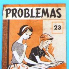 Libros de segunda mano: PROBLEMAS. EDELVIVES. CUADERNO DE PROBLEMAS Nº 23.. Lote 44239863
