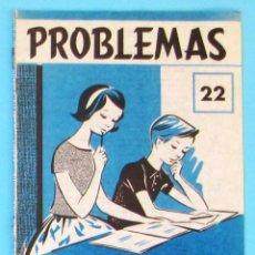 Libros de segunda mano: PROBLEMAS. EDELVIVES. CUADERNO DE PROBLEMAS Nº 22.. Lote 156796676