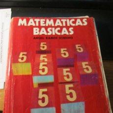Libros de segunda mano: M69 LIBRO DE TEXTO 5 EGB MATEMATICAS BASICAS DE LA EDITORIAL ANAYA 1977. Lote 44901308