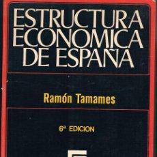 Libros de segunda mano: ESTRUCTURA ECONÓMICA DE ESPAÑA RAMÓN TAMAMES 1971 6ª EDICIÓN BIBLIOTECA UNIVERSITARIA DE ECONOMÍA. Lote 45001838