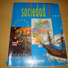 Libros de segunda mano: SOCIEDAD 7 EGB - SANTILLANA. Lote 45089758