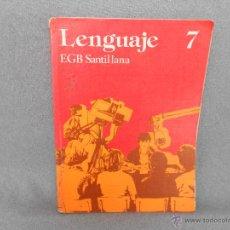 Libros de segunda mano: LENGUAJE 7 CURSO EGB SANTILLANA. Lote 45171258