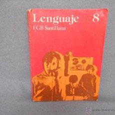 Libros de segunda mano: LENGUAJE 8º EGB SANTILLANA. Lote 45171454