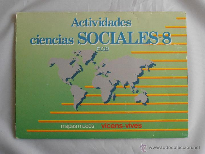 BLOC DE 24 MAPAS MUDOS ACTIVIDADES CIENCIAS SOCIALES 8 EGB VINCES VIVES (Libros de Segunda Mano - Libros de Texto )