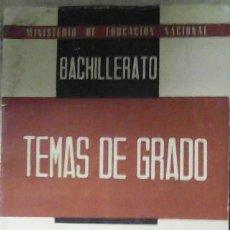 Libros de segunda mano: BACHILLERATO, TEMAS DE GRADO, LENGUAS MODERNAS, GRADO ELEMENTAL. Lote 45686013