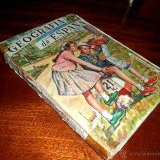 Libros de segunda mano: GEOGRAFÍA DE ESPAÑA. PRIMER CURSO. ANTONIO MARIA ZUBIA (1960). Lote 45690823