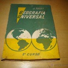 Libros de segunda mano: GEOGRAFIA UNIVERSAL - 2º CURSO. Lote 45948756
