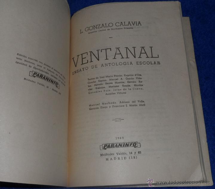 Libros de segunda mano: Ventanal - L.Gonzalo Calavia (1963) ¡Impecable! - Foto 2 - 46029660