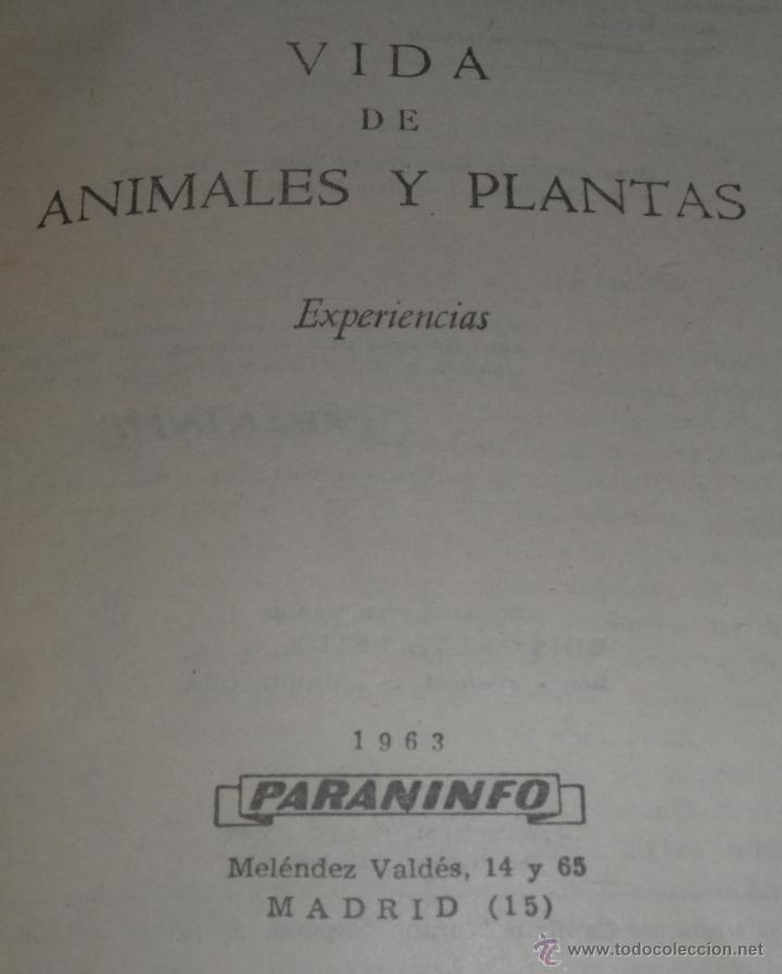 Libros de segunda mano: Vida de aniamles y plantas (1963) ¡Impecable! - Foto 2 - 46029675