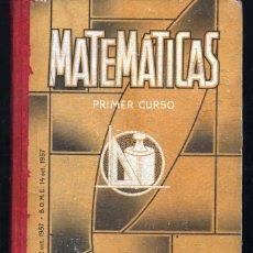Libros de segunda mano: MATEMATICAS PRIMER CURSO. LUIS VIVES. 1958 . Lote 46545707