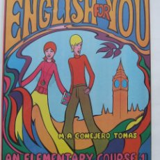 Libros de segunda mano: LIBRO DE TEXTO INGLES AÑOS 60 ESPAÑA ENGLISH FOR YOU BEATLES. Lote 221785230