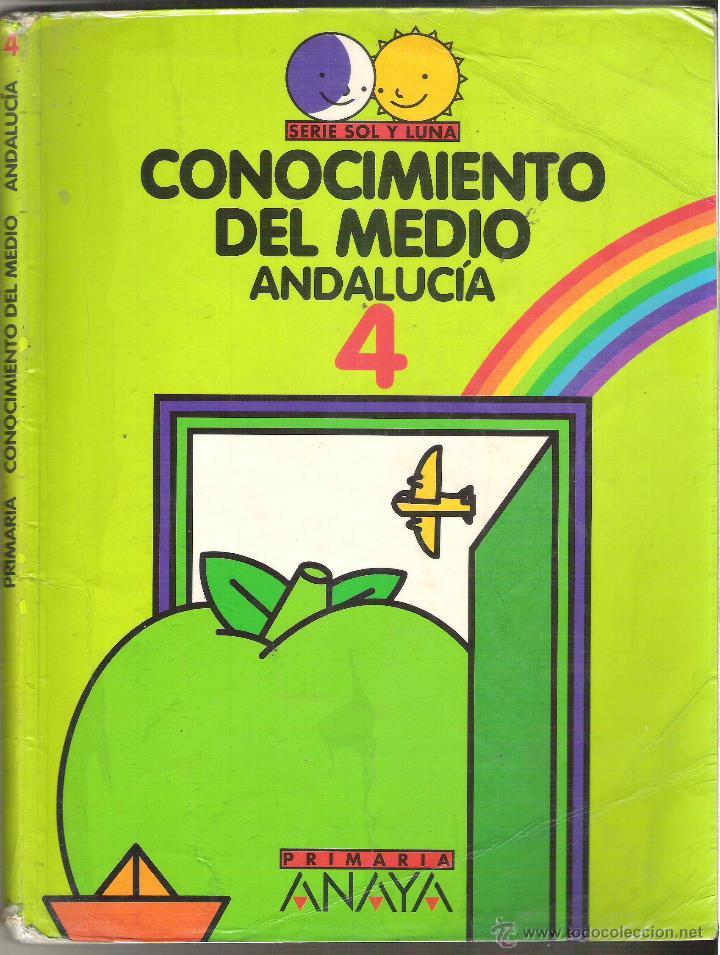 1 LIBRO TEXTO AÑO 1997 - CONOCIMIENTO DEL MEDIO 4 - PRIMARIA ( SERIE SOL Y LUNA EDITORIAL ANAYA ) (Libros de Segunda Mano - Libros de Texto )