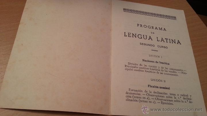 Libros de segunda mano: PROGRAMA DE LENGUA LATINA-SEGUNDO CURSO-AÑO 1951-2150 5 - Foto 3 - 46634161