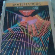 Second hand books - MATEMATICAS BACHILLERATO 3 - ANAYA - 110507523