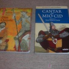 Libros de segunda mano: DON QUIJOTE Y EL CANTAR DEL MIO CID. Lote 47153387