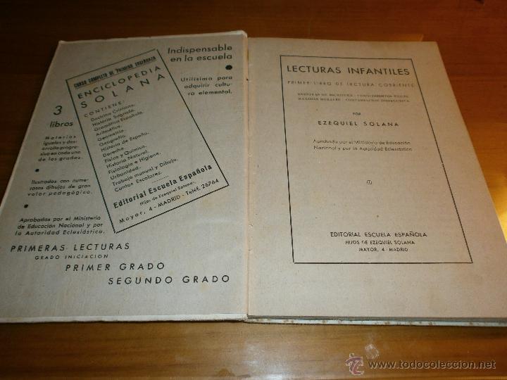 Libros de segunda mano: LECTURAS INFANTILES - PRIMER LIBRO - EZEQUIEL SOLANA - EDITORIAL ESCUELA ESPAÑOLA -1941 - Foto 2 - 47348831