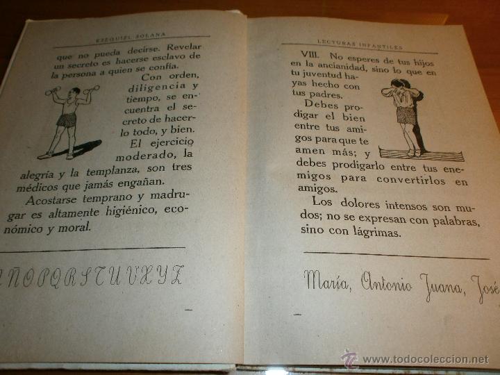 Libros de segunda mano: LECTURAS INFANTILES - PRIMER LIBRO - EZEQUIEL SOLANA - EDITORIAL ESCUELA ESPAÑOLA -1941 - Foto 3 - 47348831