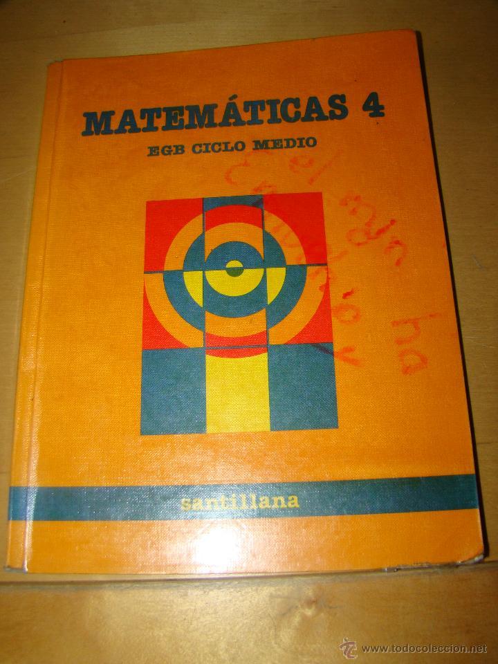 MATEMÁTICAS 4 - SANTILLANA (Libros de Segunda Mano - Libros de Texto )