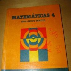 Libros de segunda mano: MATEMÁTICAS 4 - SANTILLANA. Lote 47360374