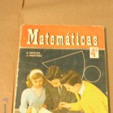 Libros de segunda mano: MATEMATICAS EDICIONES SM 4º 1966. Lote 47627824